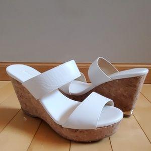 NEW Jimmy Choo Parker Platform Cork Wedge Sandals